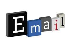 Casella piacevole del email Immagine Stock