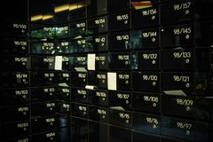 Casella postale nel condominio fotografia stock libera da diritti