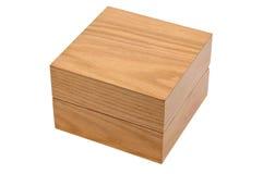 Casella quadrata di legno chiusa Fotografia Stock