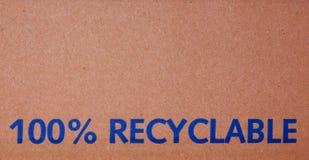 casella riciclabile di 100% Fotografie Stock Libere da Diritti