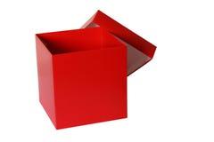Casella rossa Immagini Stock