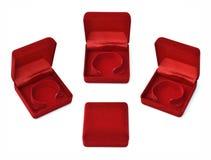 Casella rossa fotografie stock