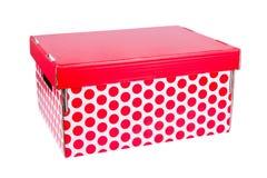 Casella rossa Fotografia Stock