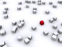 Casella rossa illustrazione di stock