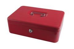 Casella rossa fotografie stock libere da diritti
