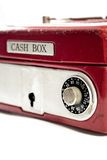 Casella rossa dei contanti Immagine Stock Libera da Diritti