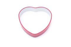 Casella rossa di figura del cuore fotografie stock libere da diritti