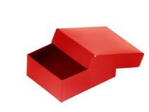 Casella rossa vuota Fotografie Stock