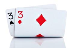Casella Threes Immagini Stock Libere da Diritti