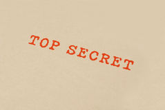 Casella top-secret Immagine Stock Libera da Diritti