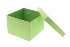 Casella verde fotografia stock