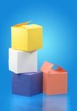 Caselle colorate Fotografia Stock