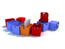 Caselle colorate per l'ufficio Fotografia Stock Libera da Diritti
