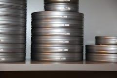 Caselle con la pellicola Fotografie Stock