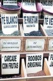 Caselle con le foglie di tè Fotografia Stock Libera da Diritti