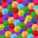 Caselle di colore Immagine Stock