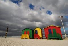 Caselle di colore di Città del Capo Fotografia Stock