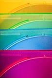 Caselle di colore a macroistruzione Immagine Stock