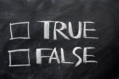 Caselle di controllo allineare e false Immagini Stock Libere da Diritti