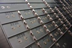 Caselle di deposito di sicurezza Immagine Stock