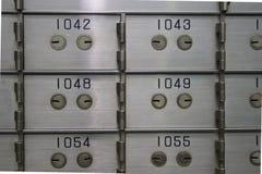 Caselle di deposito di sicurezza Fotografia Stock