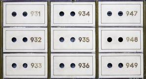 Caselle di deposito sicuro antiche Fotografia Stock