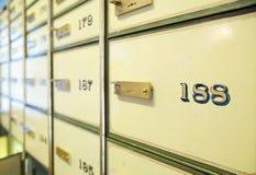 Caselle di deposito sicuro dell'annata Fotografie Stock