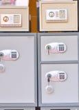 Caselle di deposito sicuro elettroniche Immagini Stock
