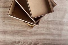 Caselle di legno vuote Fotografie Stock