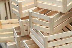Caselle di legno vuote Fotografia Stock