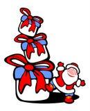 Caselle di regalo e della Santa Immagini Stock