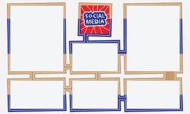 Caselle di testo colorate Fotografia Stock Libera da Diritti
