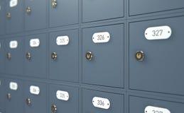 Caselle di ufficio postale Immagine Stock Libera da Diritti