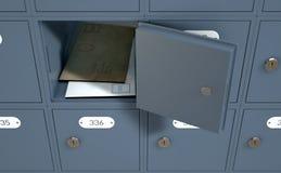 Caselle di ufficio postale Fotografie Stock Libere da Diritti