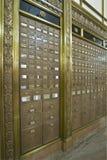 Caselle di ufficio postale antiche 4 fotografia stock