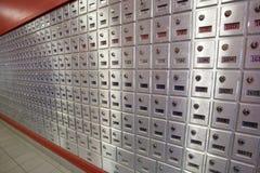Caselle di ufficio postale per posta Fotografie Stock