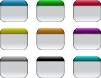 Caselle di Web Immagine Stock