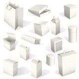 Caselle e pacchetti impostati Fotografie Stock