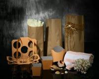 Caselle e pacchetto Fotografia Stock