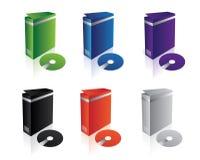 Caselle pulite del software di vettore Fotografia Stock