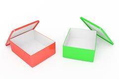 Caselle rosse e verdi Fotografia Stock