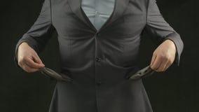 Caselle vuote Crisi, inflazione, disoccupazione, fallimento, debito stock footage