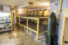 Casemate 35/3 alla linea di Maginot in Marckolsheim dall'interno Fotografia Stock