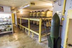 Casemate 35/3 at the Maginot line in Marckolsheim from inside Stock Photography
