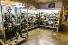 Casemate 35/3 na linha Maginot em Marckolsheim do interior Fotografia de Stock Royalty Free