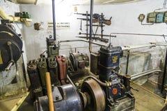 Casemate 35/3 na linha Maginot em Marckolsheim do interior Imagens de Stock