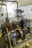Casemate 35/3 na linha Maginot em Marckolsheim do interior Foto de Stock