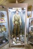 Casemate 35/3 na linha Maginot em Marckolsheim do interior Foto de Stock Royalty Free