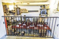 Casemate 35/3 na linha Maginot em Marckolsheim do interior Imagens de Stock Royalty Free
