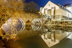 Casemates du Bock and stone bridge in Luxembourg. Europe Royalty Free Stock Photos
